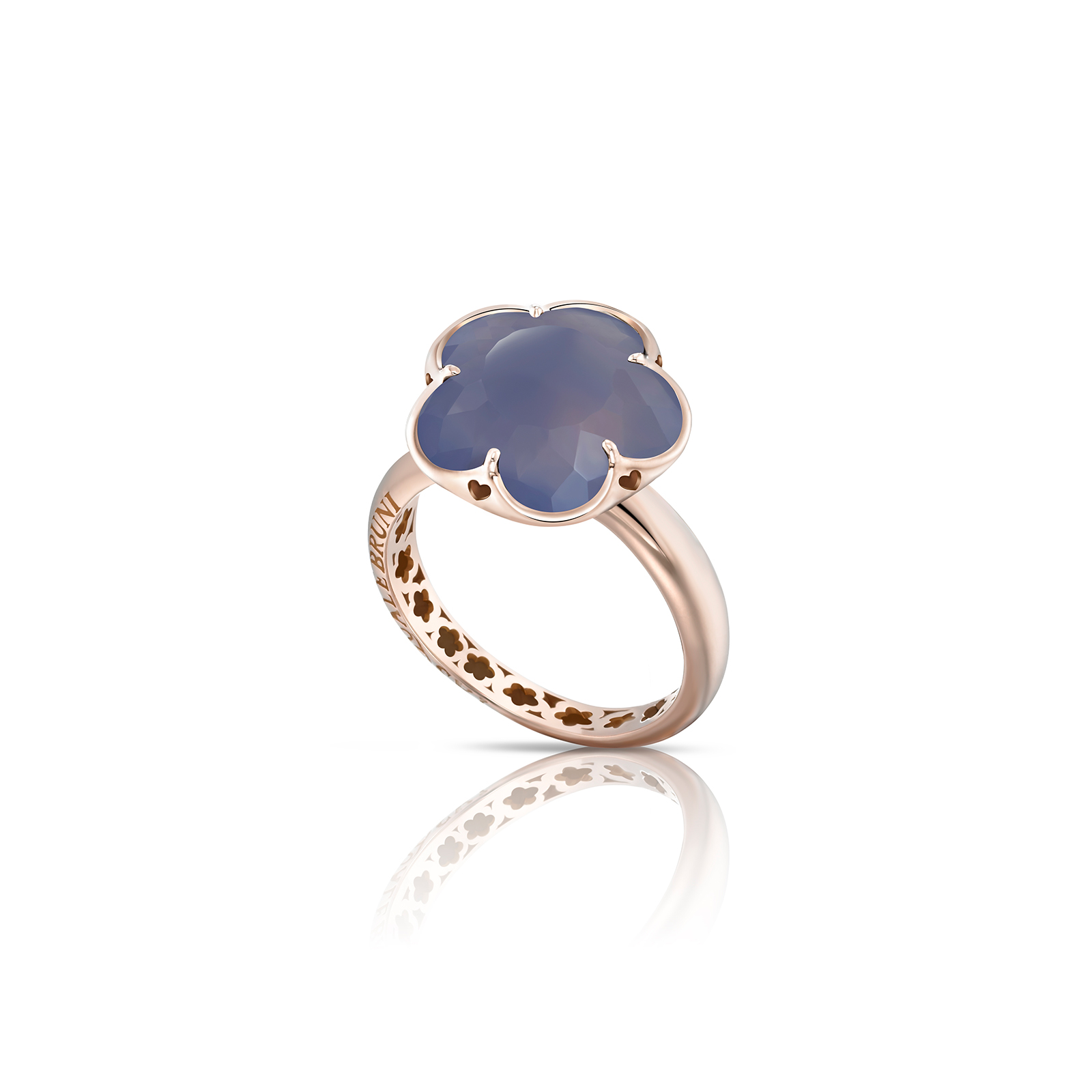 BON TON RING WITH DEEP BLUE CHALCEDONY 11mm