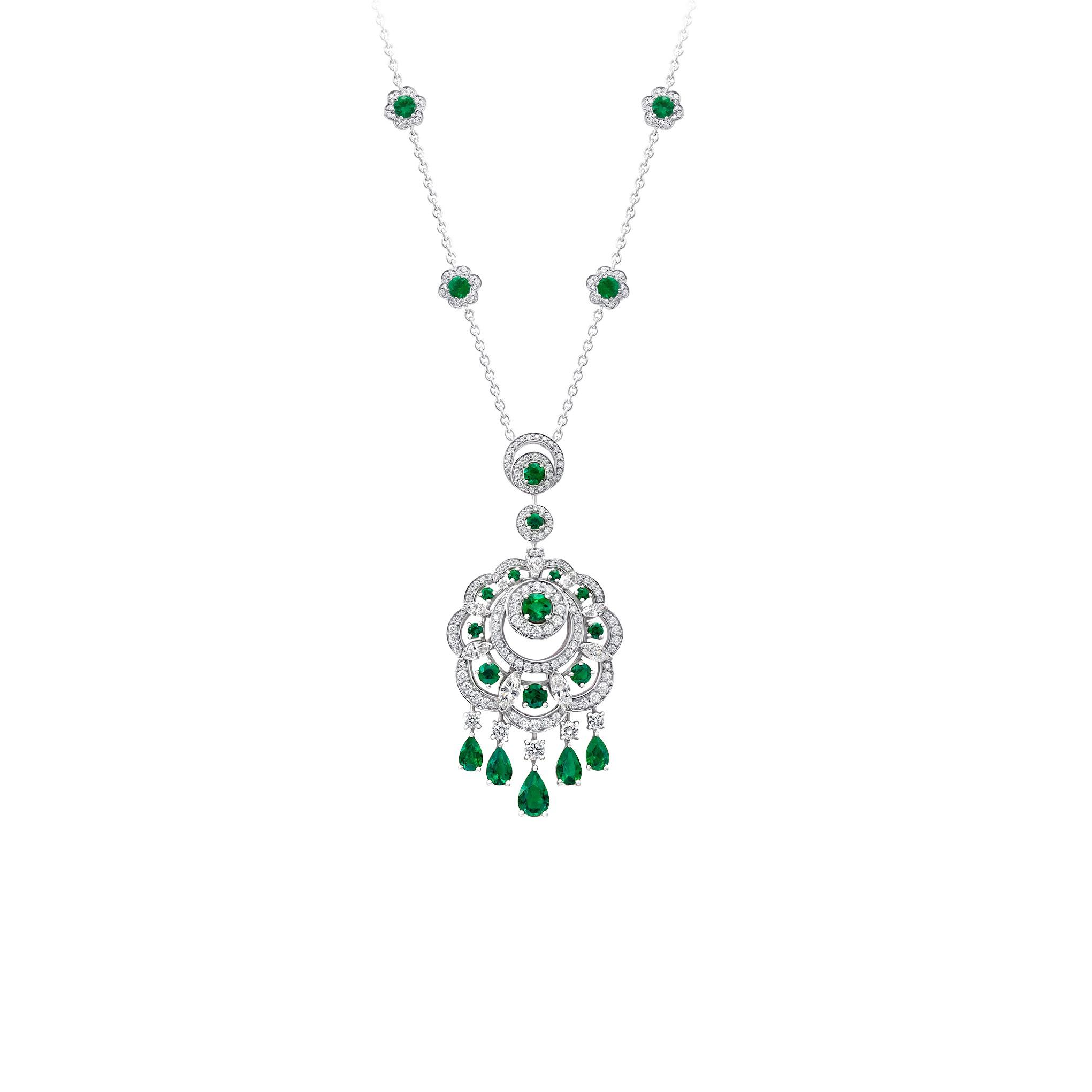 Pendant Emerald Sunburst