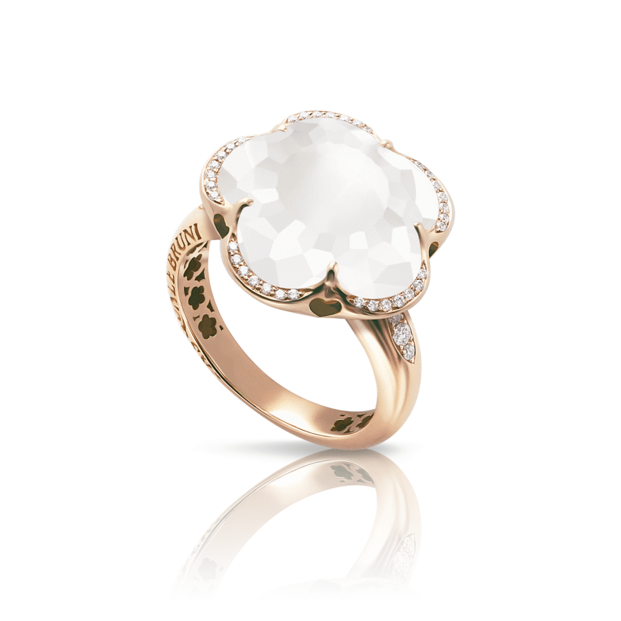 Ring Bon Ton Milky Quartz 14mm