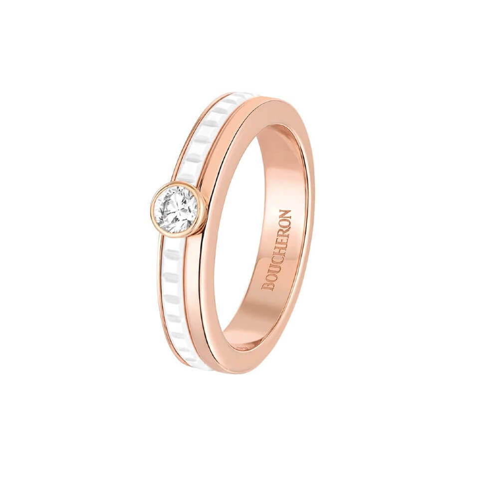 QUATRE WHITE EDITION WEDDING RING