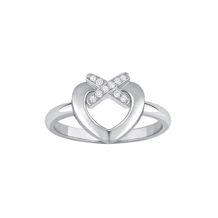 Ring Liens Heart white gold