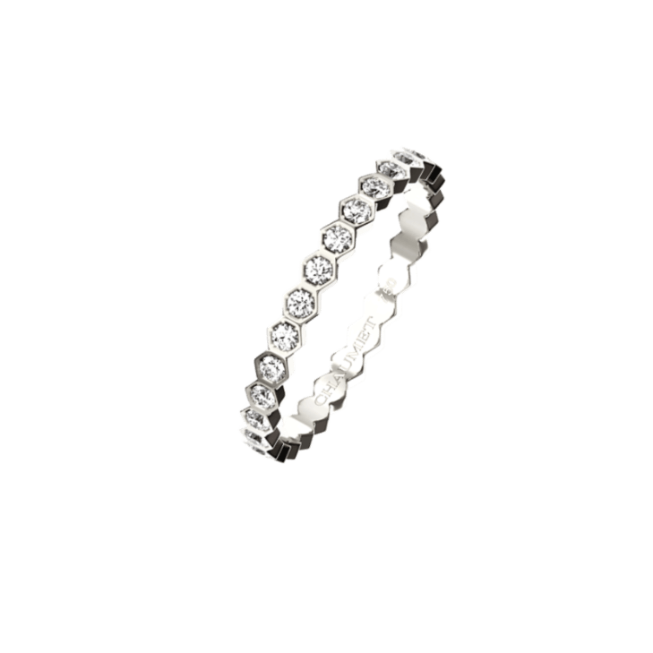 RING BEE MY LOVE FULL PAVED DIA WHITE GOLD