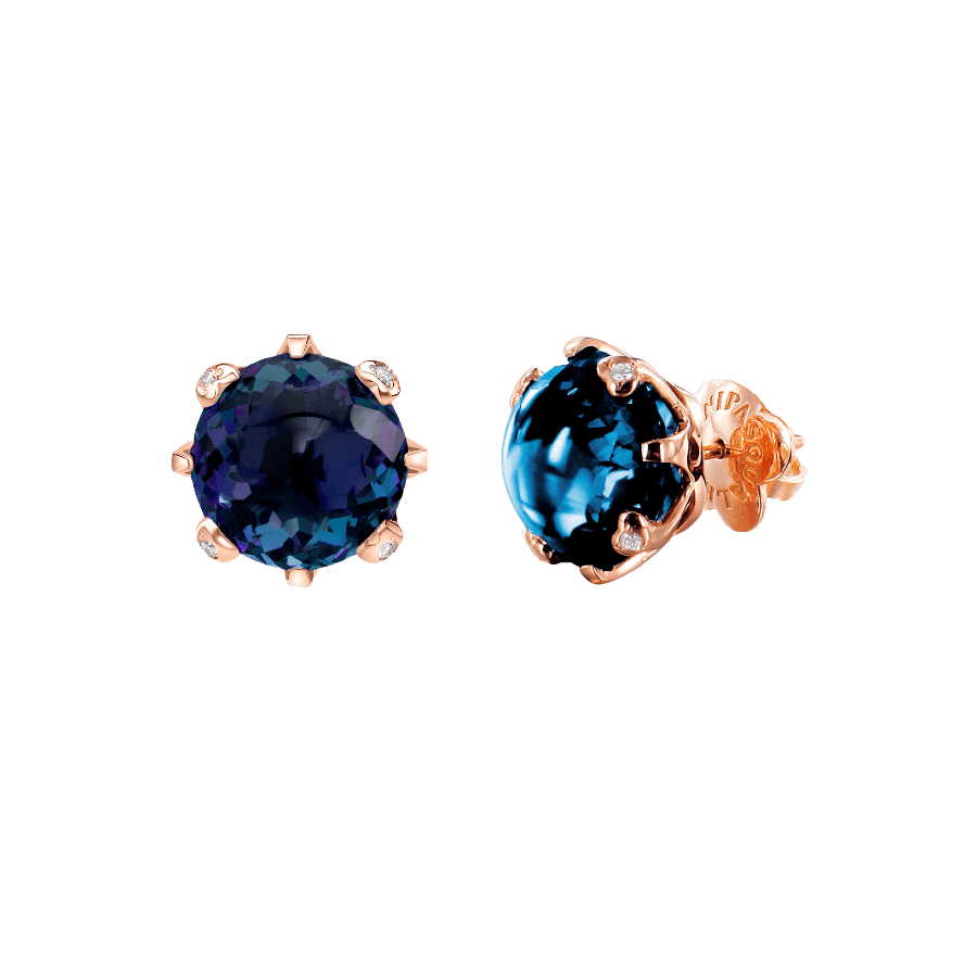 Sissi o Amo Earrings with London Blue Topaz