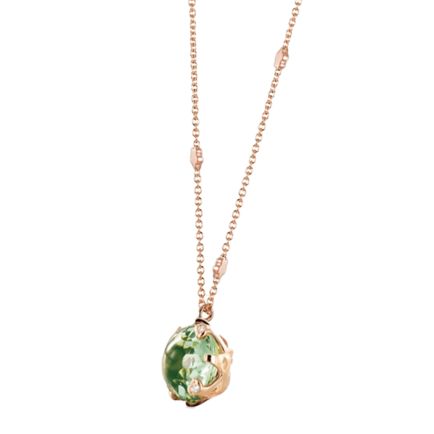 Sissi Necklace with prasiolite and diamonds