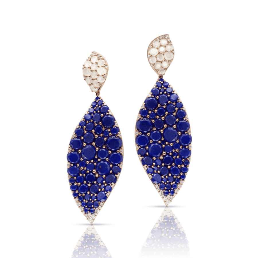 Earrings Lakshmi Lapis Lazuli, Moonstone