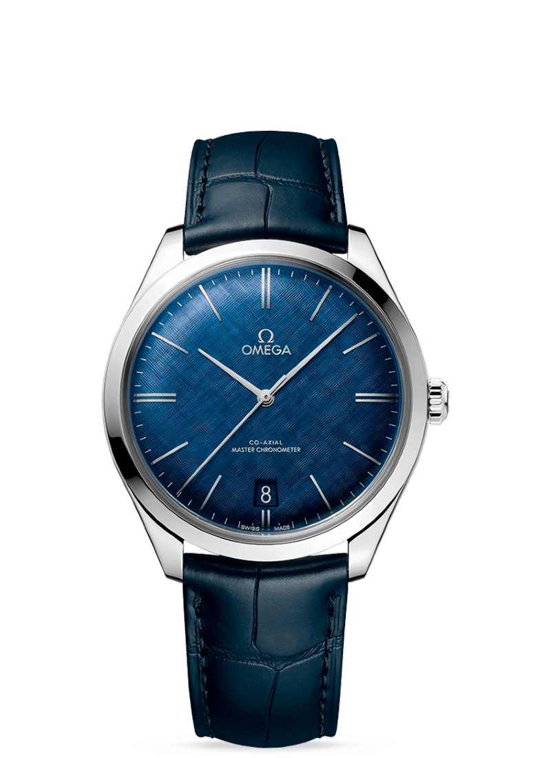 TRÉSOR OMEGA CO‑AXIAL MASTER CHRONOMETER 40 MM blue dial