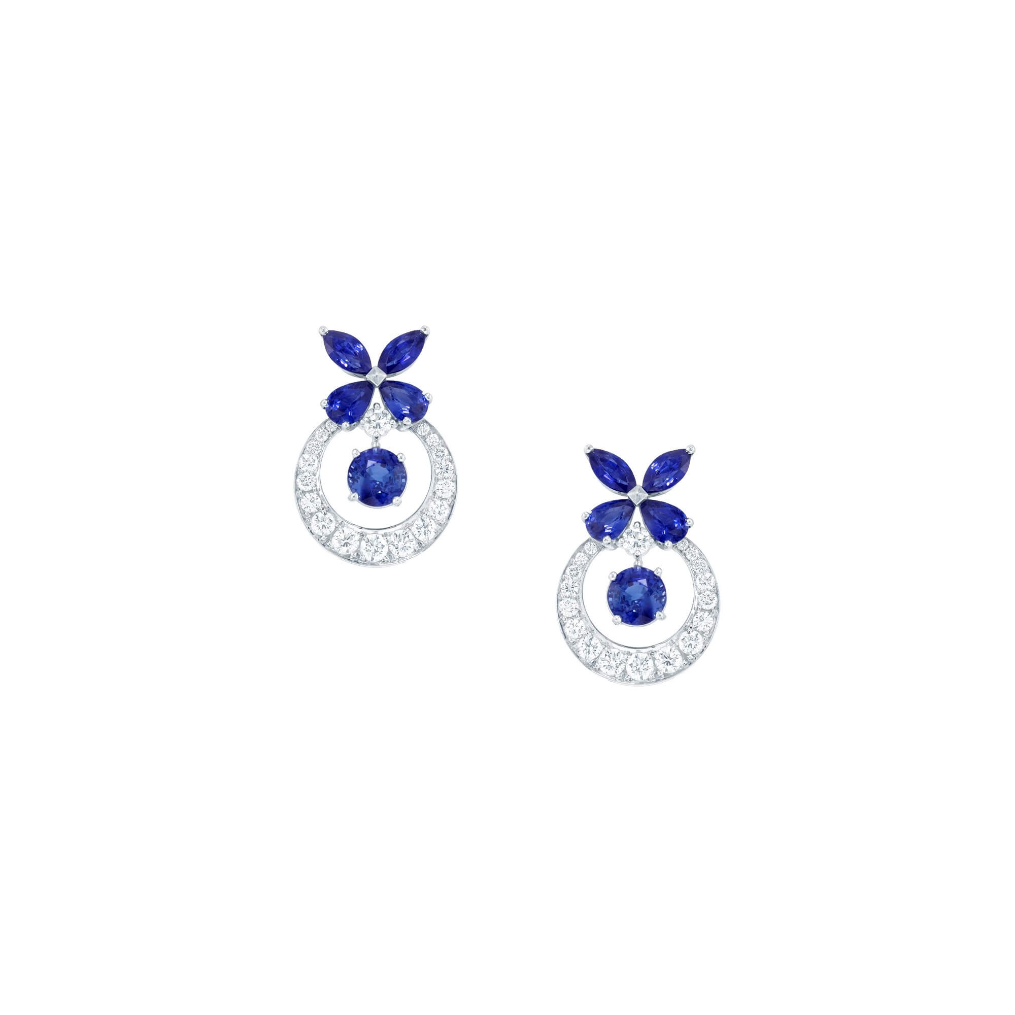 Earrings Butterfly Sapphires