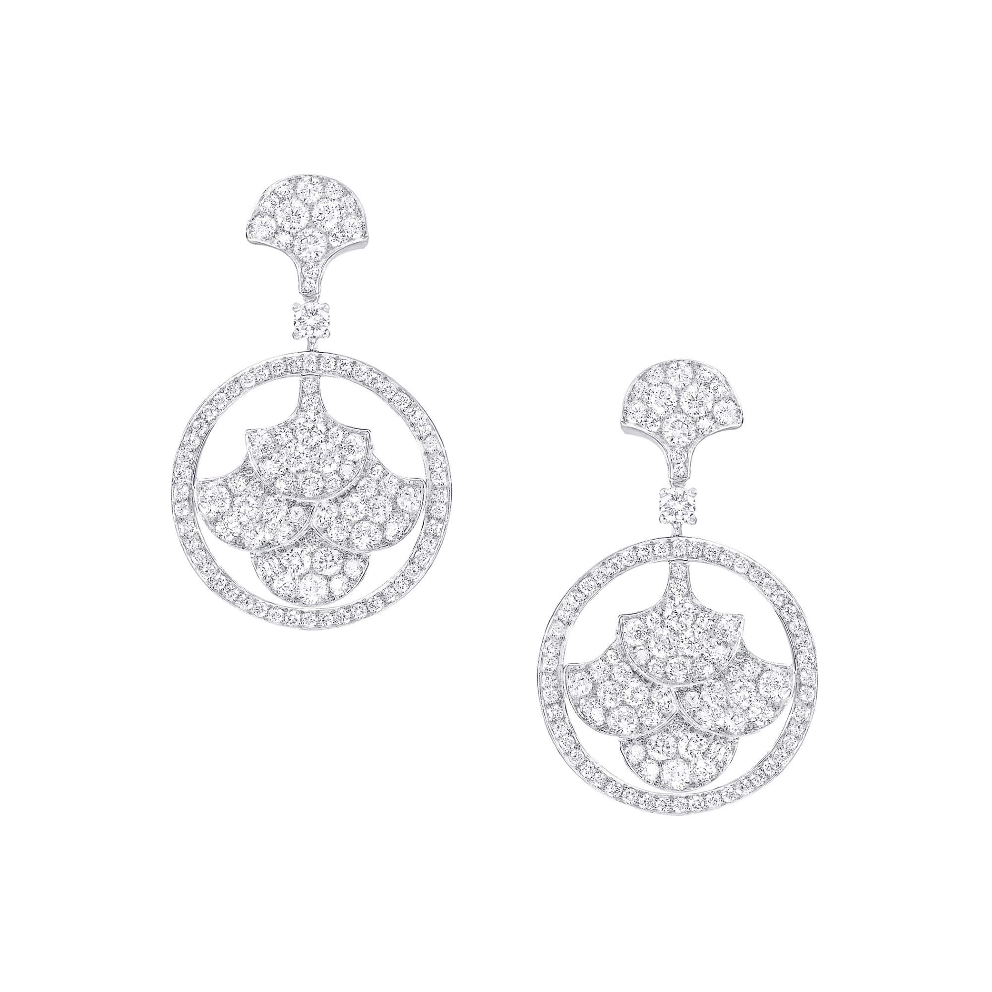 Earrings Pave Graff Icon