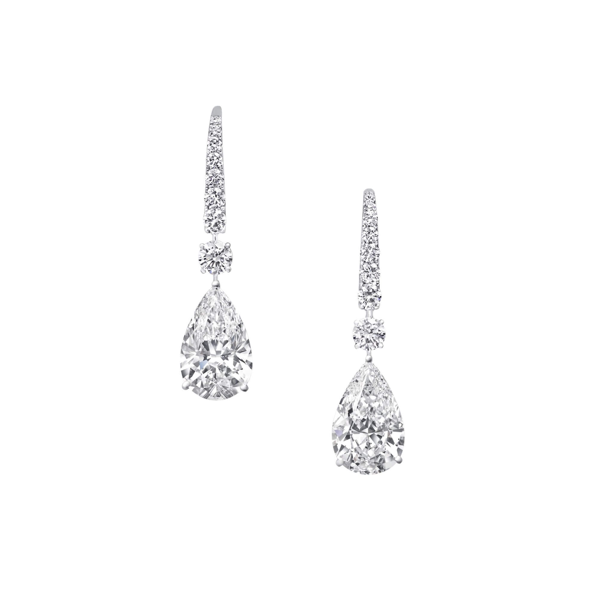 Earrings Pearshape Diamonds