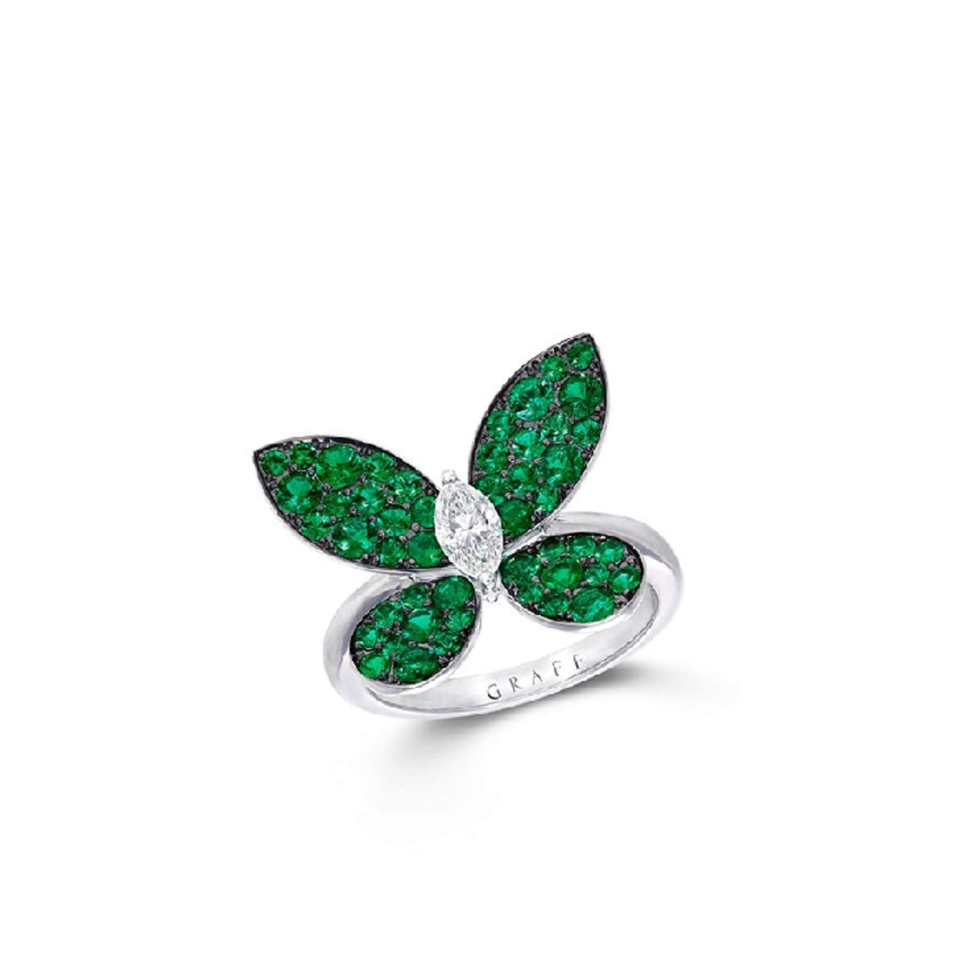 Ring Pave Butterfly