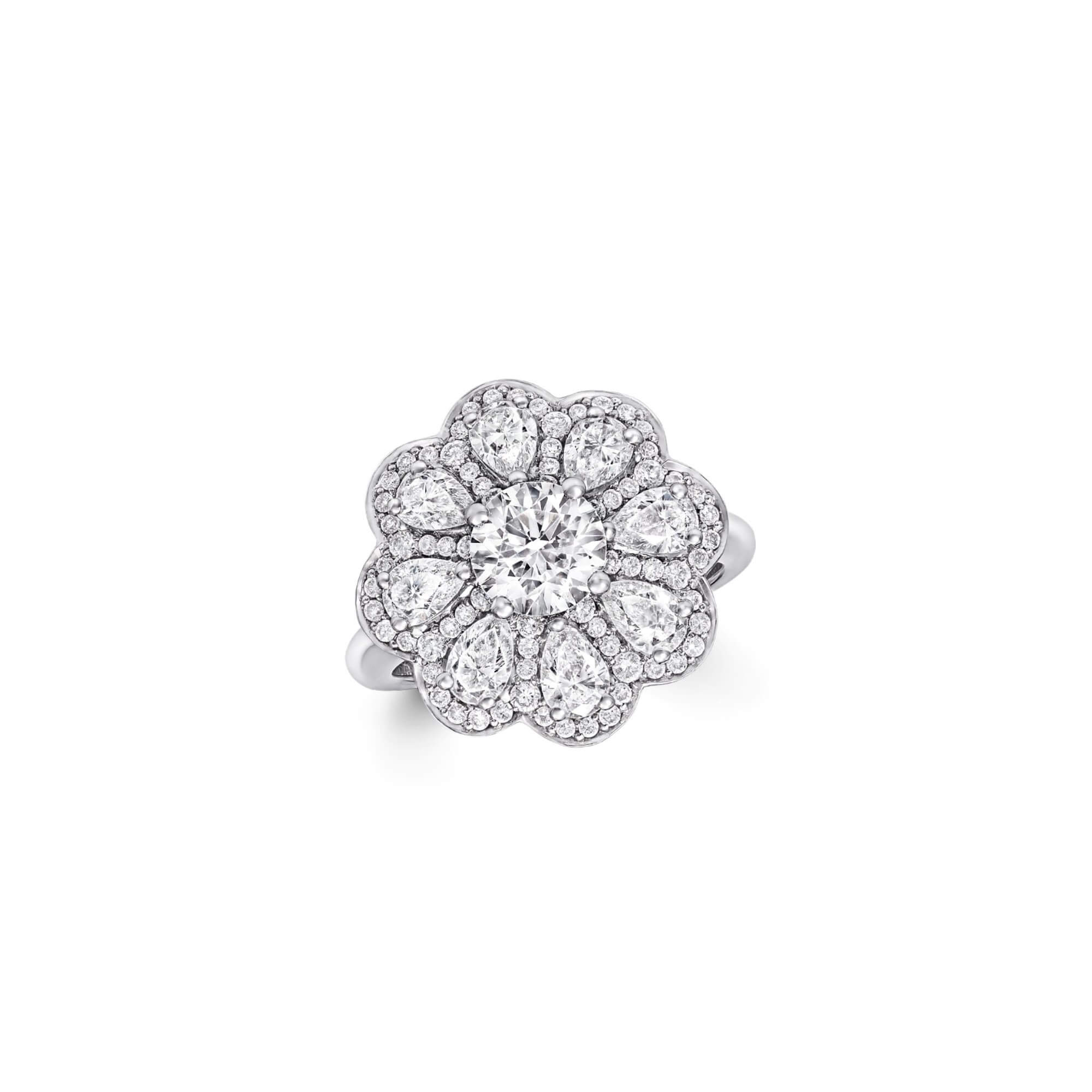 Ring Pave Flower