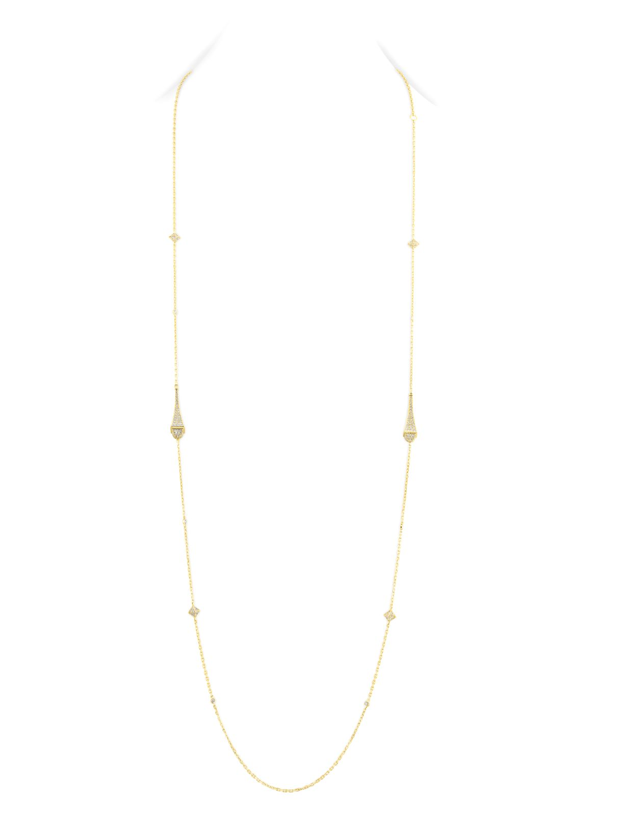 Cleo Long Chain Full Diamond Necklace