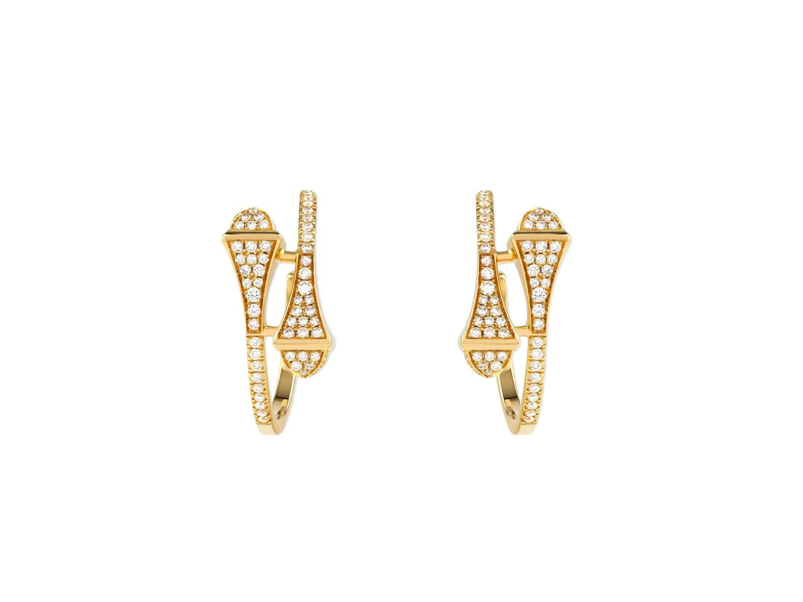 Cleo Full Diamond Small Hoop Earrings