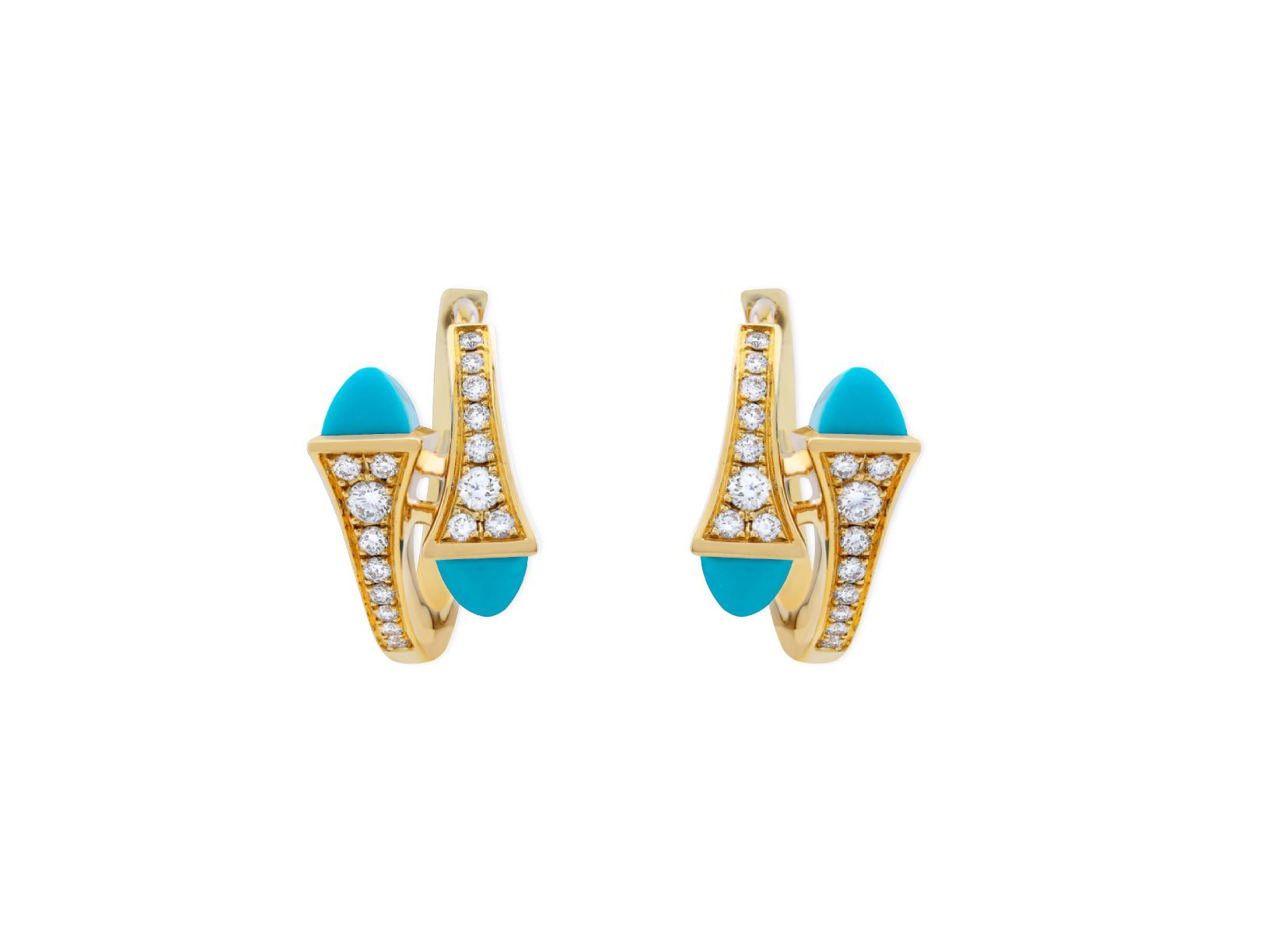 Cleo Diamond Huggie Earrings