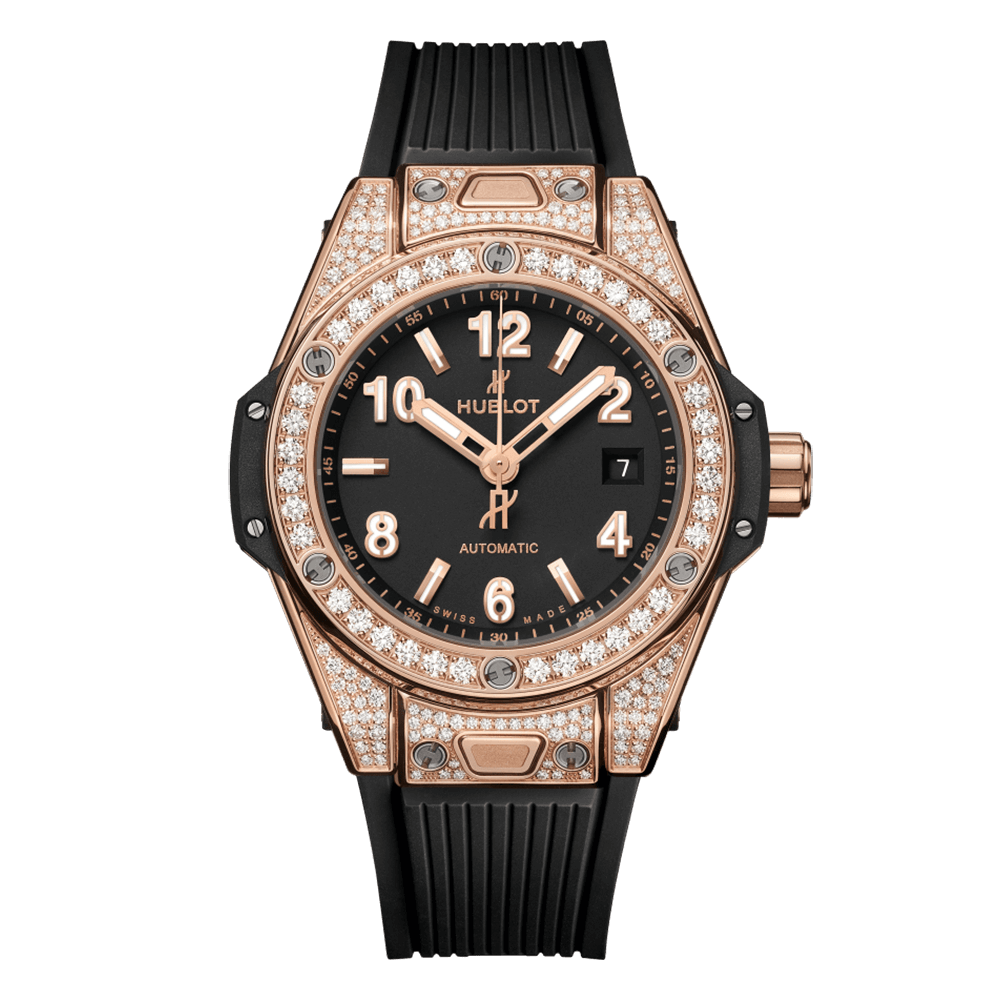 BIG BANG UNICO GOLD PAVE 33MM