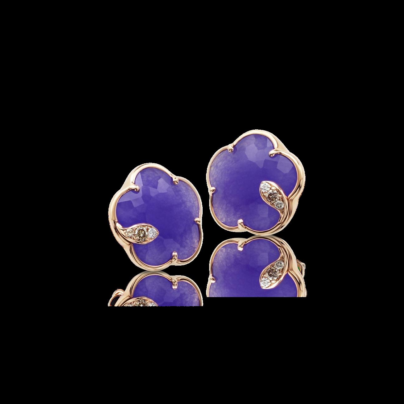 EARRINGS PETIT JOLI Violet Quartz