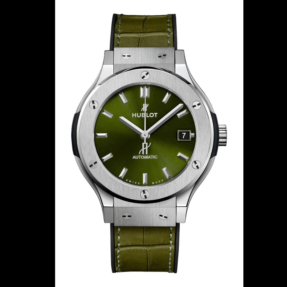 CLASSIC FUSION TITANIUM GREEN 38MM