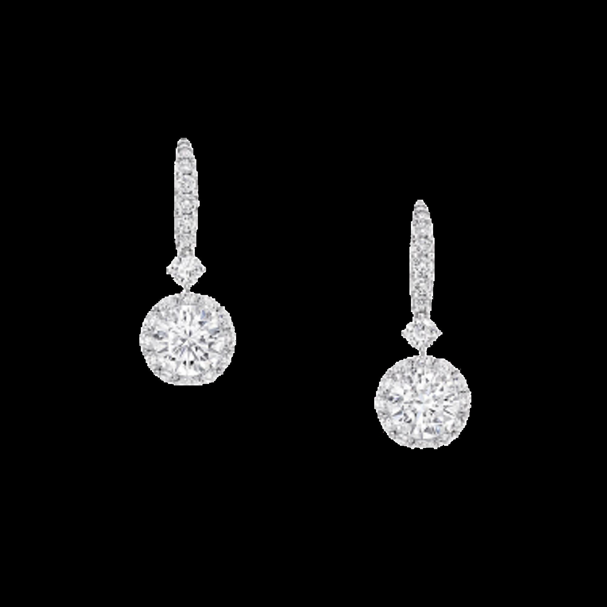 Earrings Icon Round Diamond