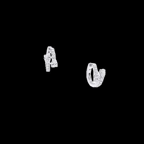 Earrings Duet Diamond Hoop