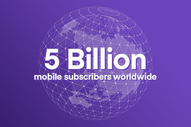 5 milliards d'abonnés mobiles dans le monde