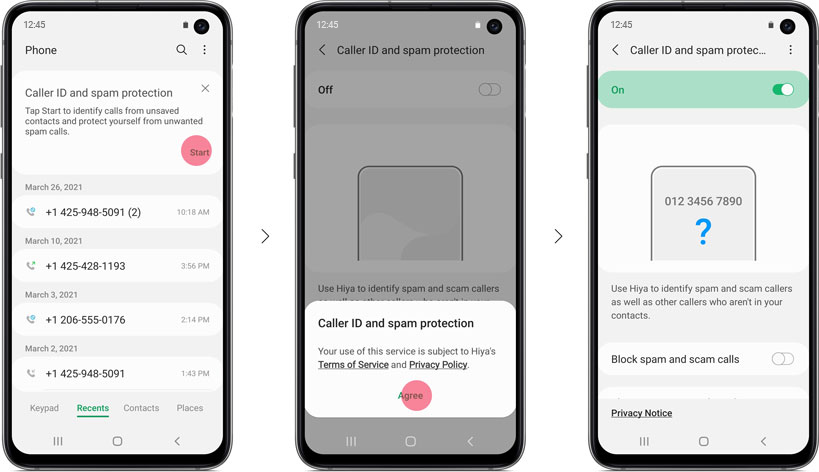 Samsung Smart Call Activar el registro de llamadas