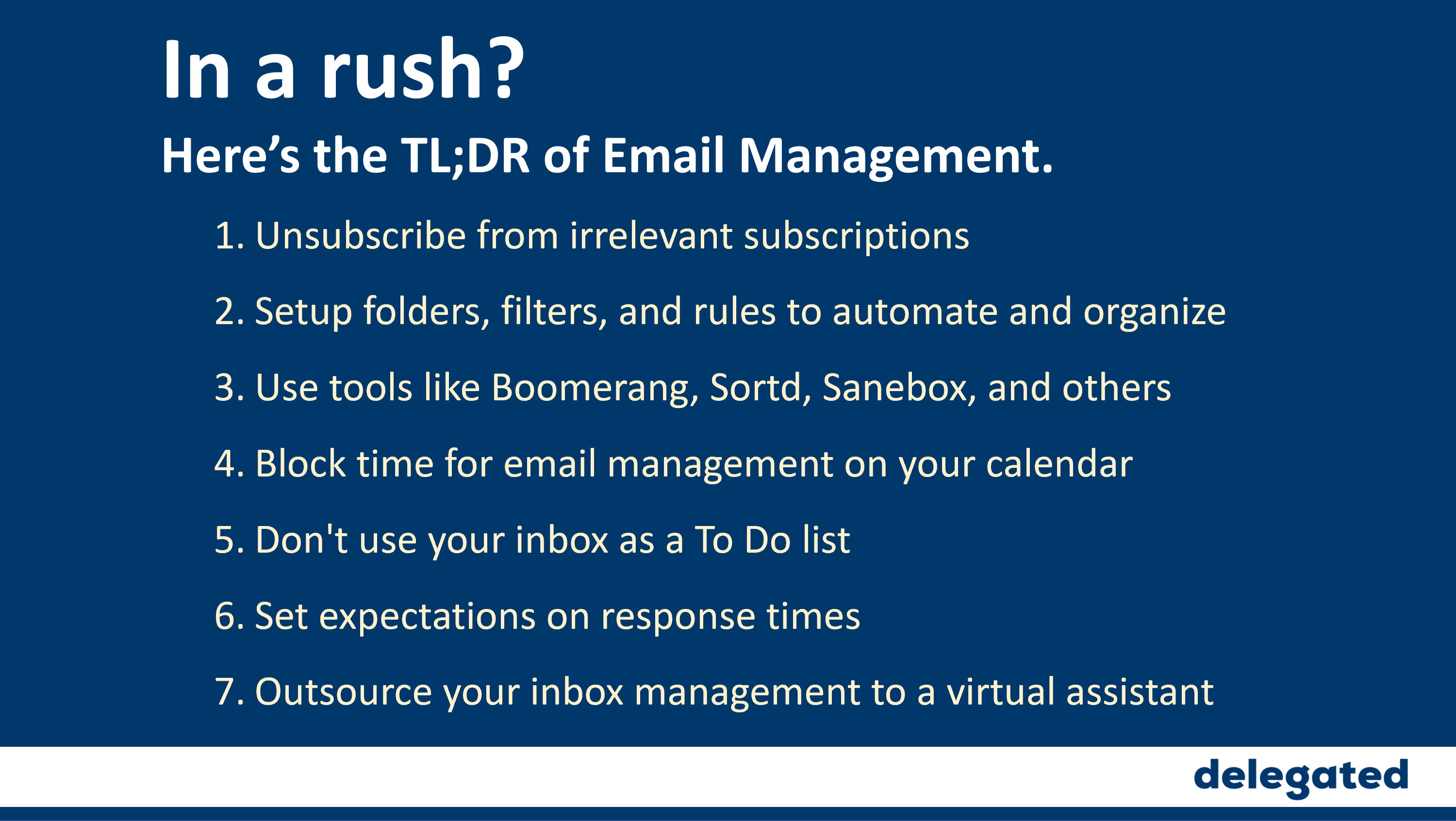 Email Management Tips and Tool Ideas