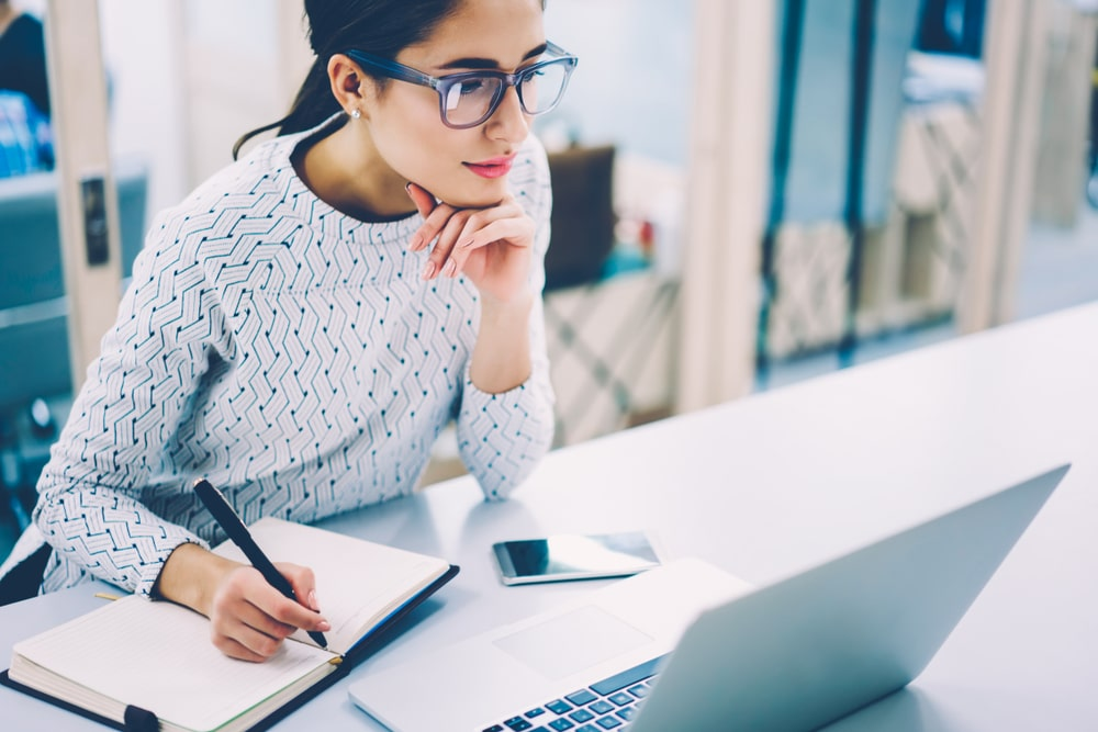 Young Female Administrative Assistant Working Remotely