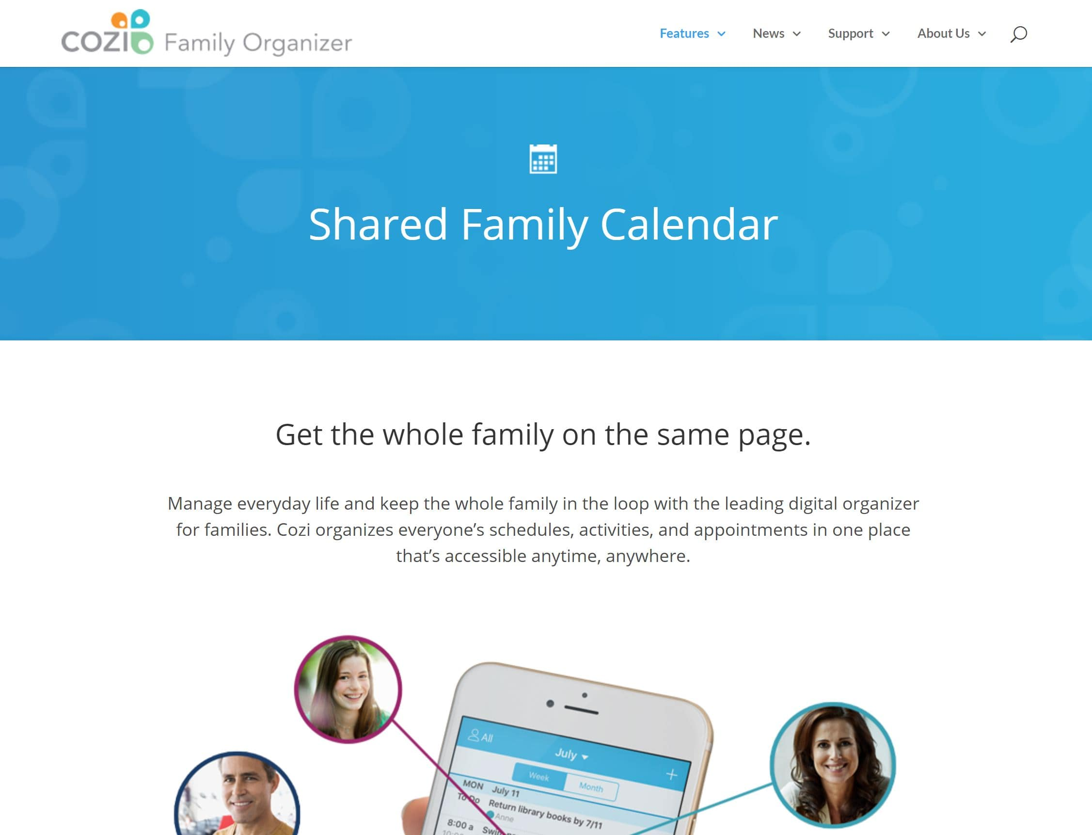 Cozi Shared Family Calendar