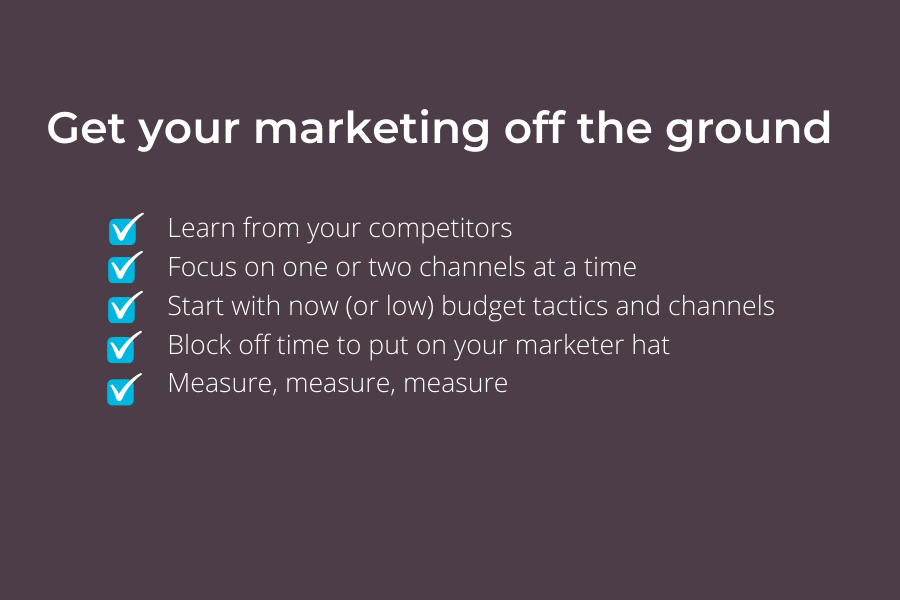 Tips to Get Your Marketing Off the Ground