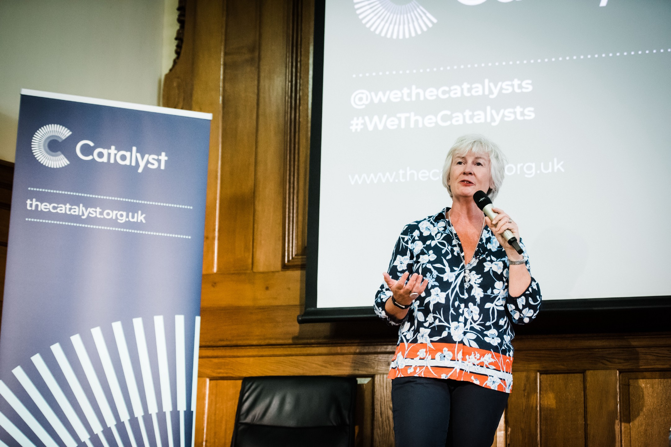 Annika Small, Co-Founder of the Catalyst, at the inaugural gathering of The Catalyst