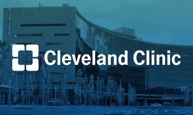 A photo of a hospital building with the Cleveland Clinic logo on top