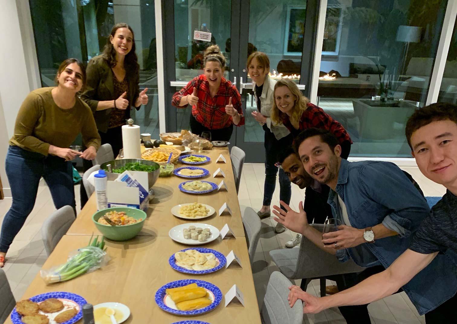 Potluck dinner with member of VFD (Virtans for Diversity)