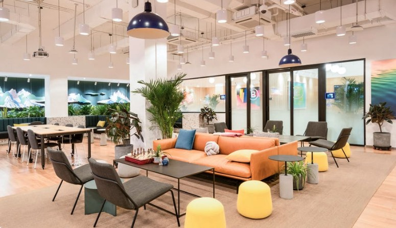 Interior of WeWork office in Denver, CO