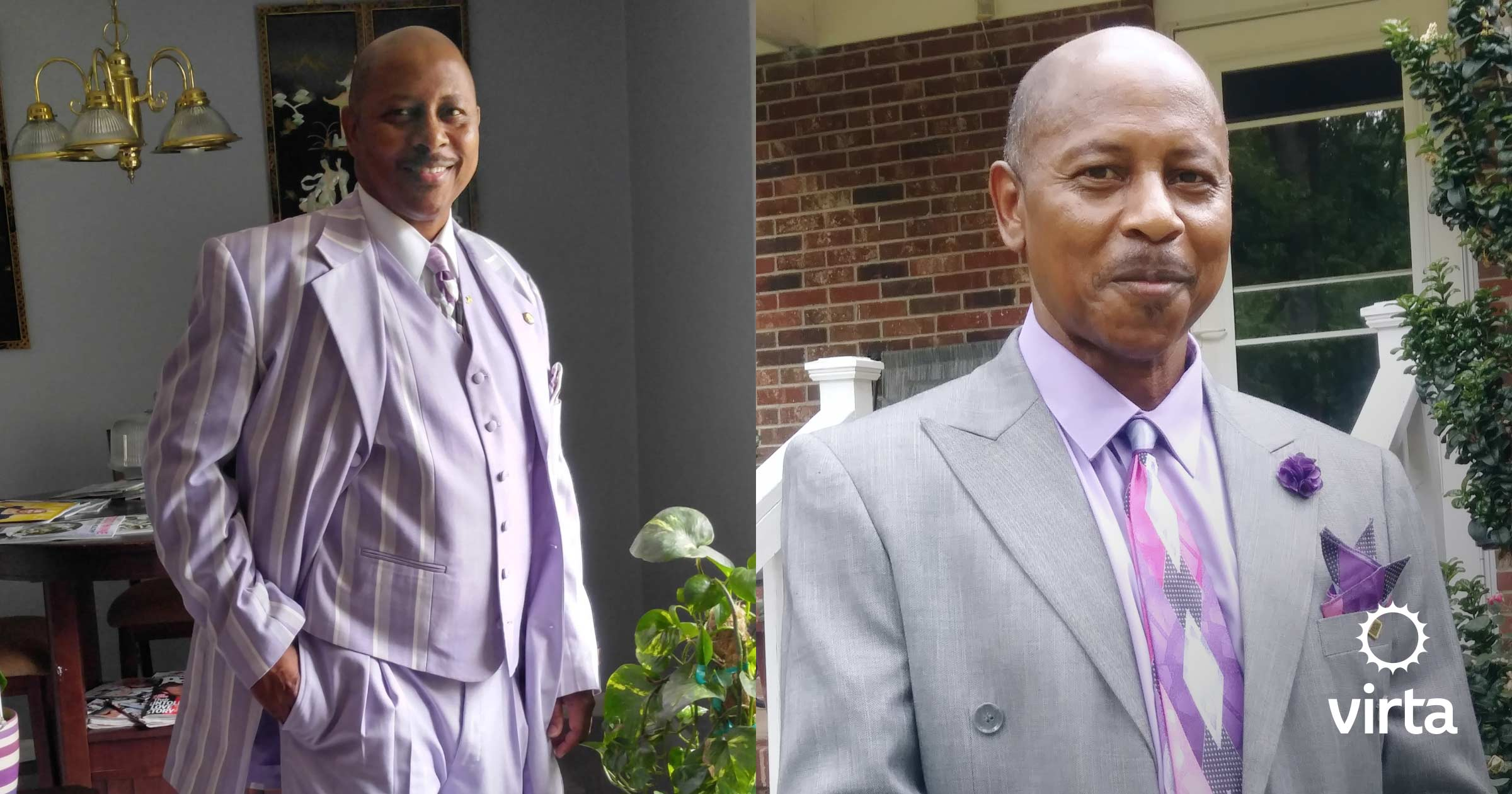 Kenneth needed a new wardrobe after losing 30 pounds