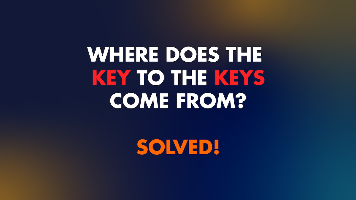 Solving the Key to the Keys problem