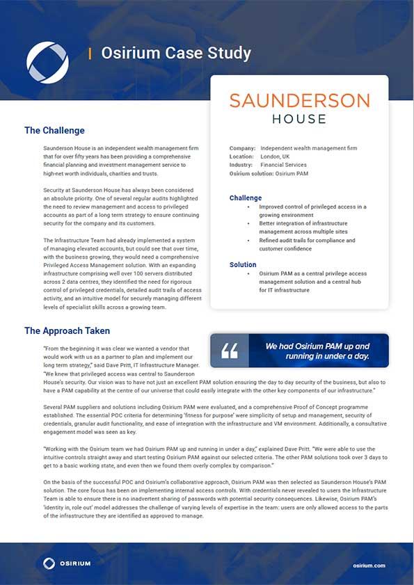 Saunderson House Case Study