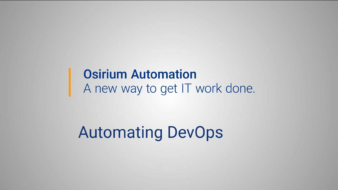 Osirium Automation for DevOps