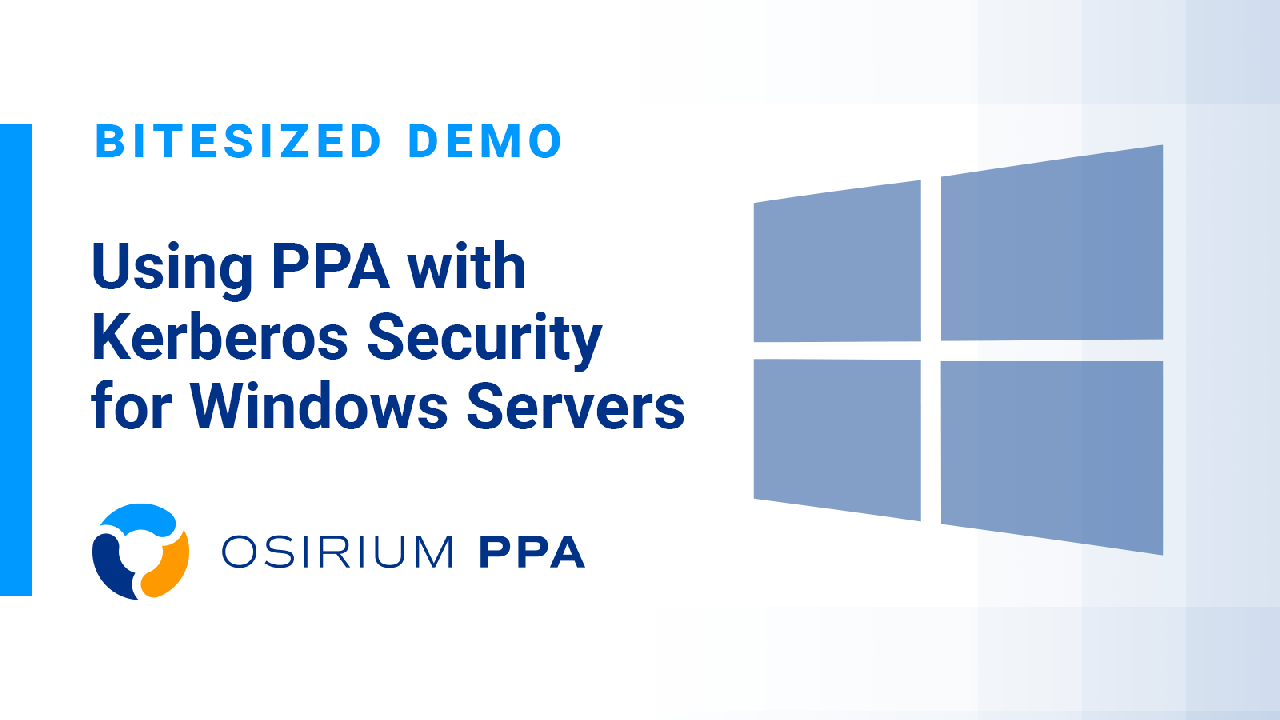PPA Bitesized Demo - Using Kerberos Security