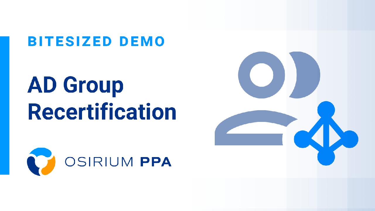PPA Bitesized Demo - Group Recertification