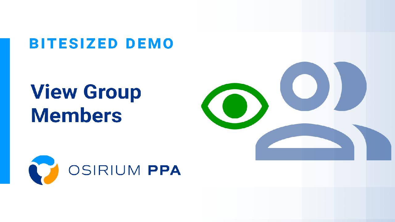 PPA Bitesized Demo - View Group Members