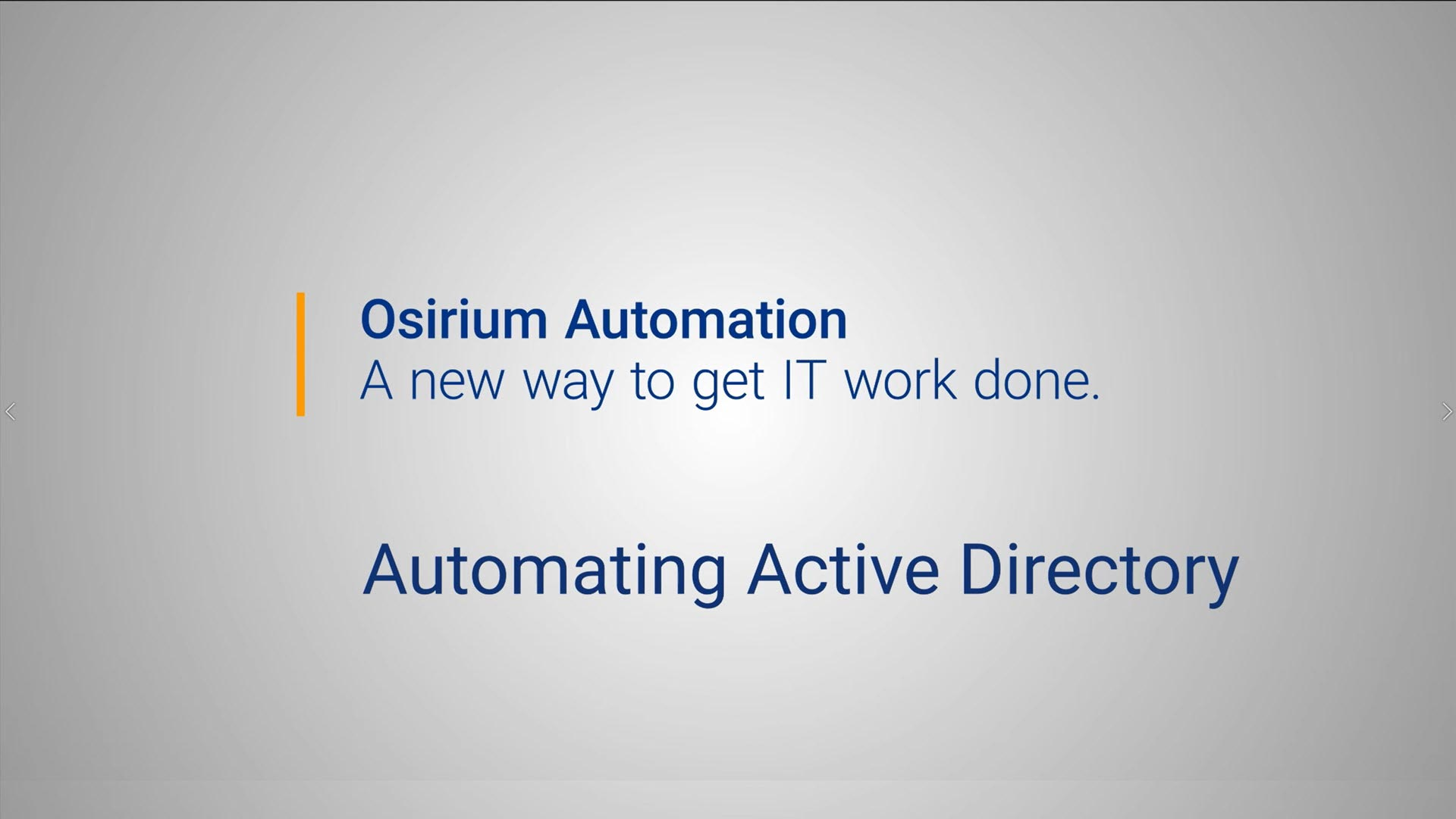 Osirium Automation for Active Directory