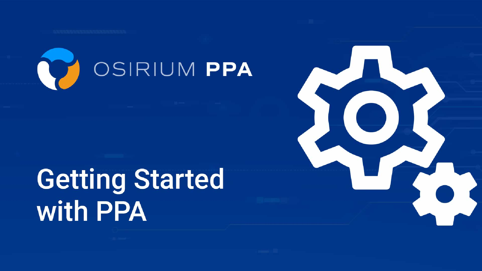 Getting Started with PPA