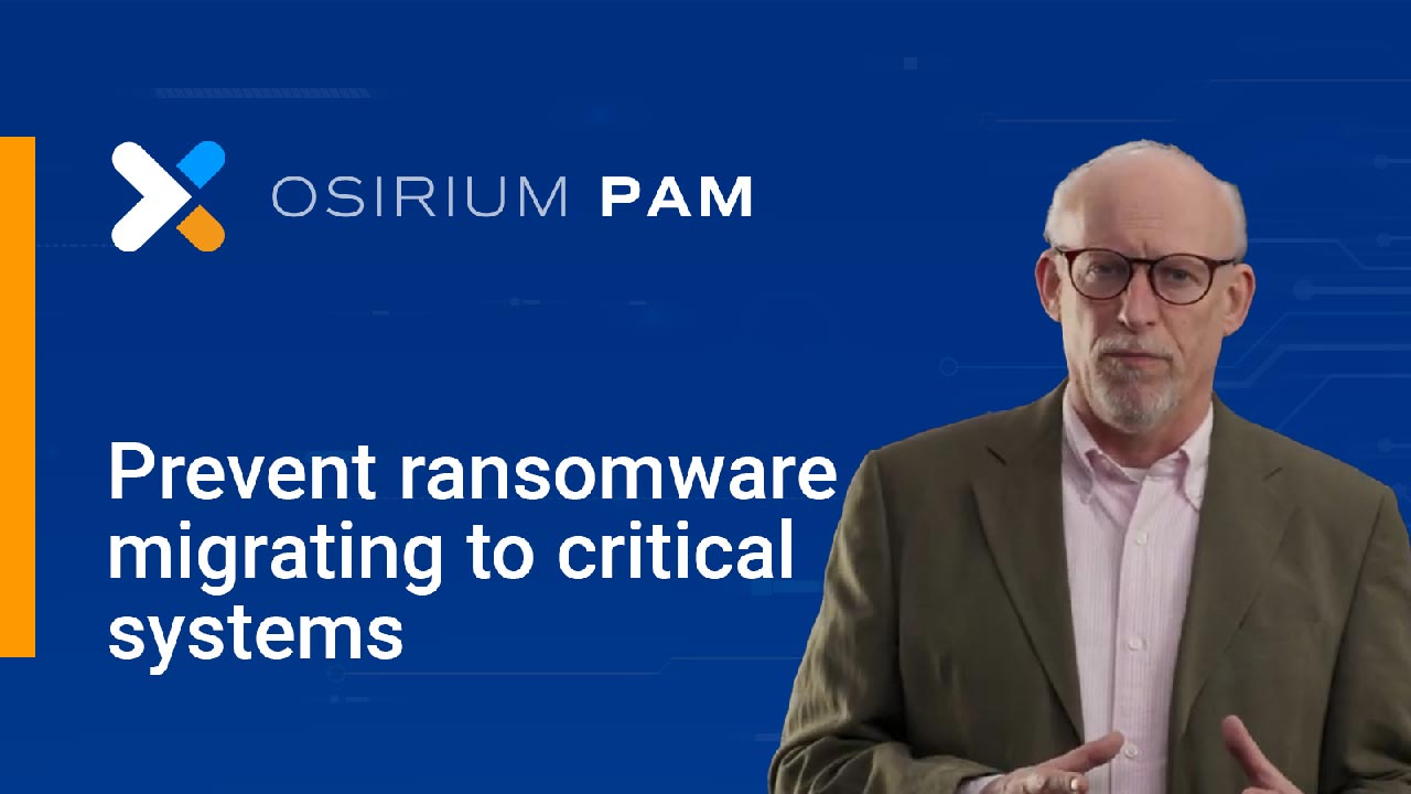 Preventing ransomware migrating to critical systems