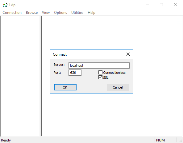 LDP connection screen