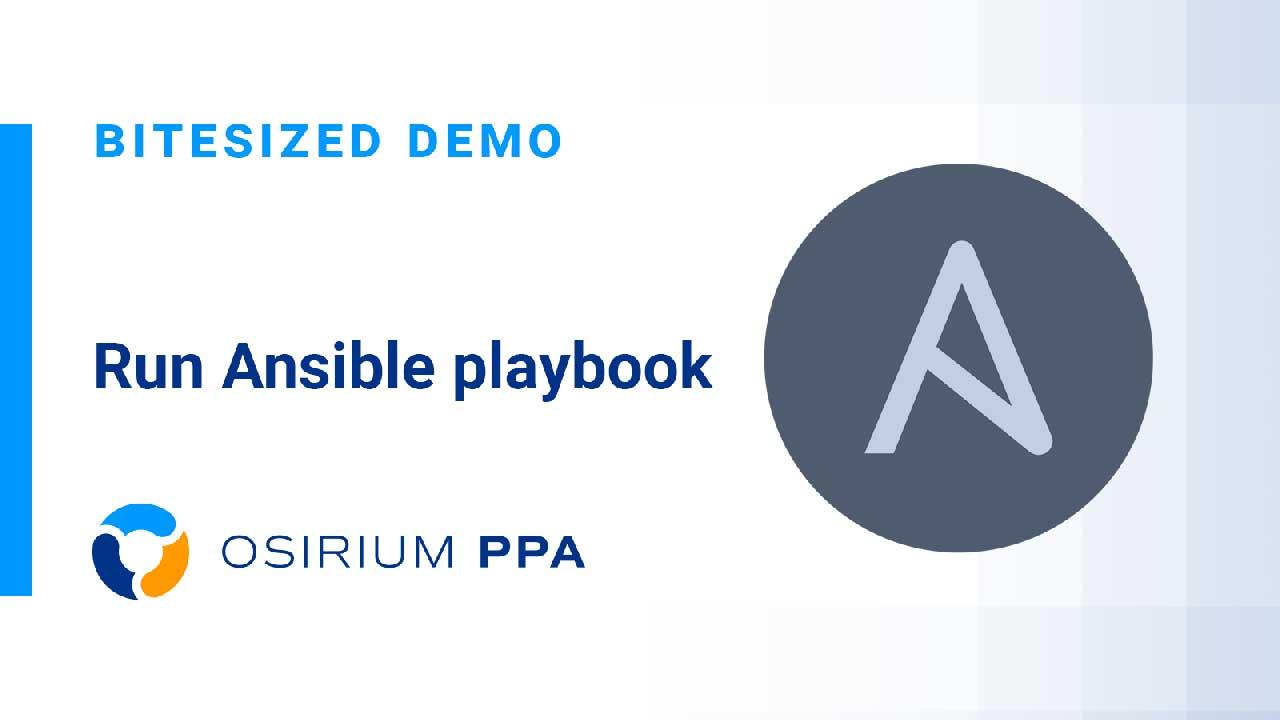 PPA Bitesized - Run Ansible Playbook