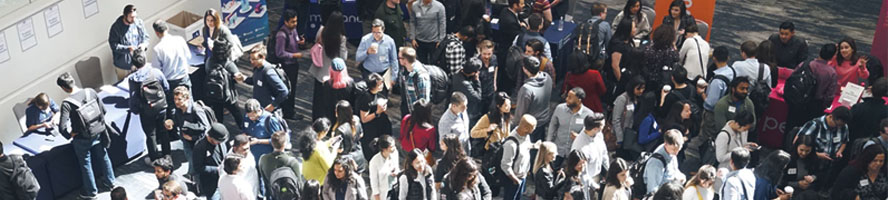 crowd at an innovation event