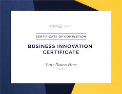 Business Innovation Certificate