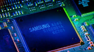Samsung Semiconductor Chip with colours