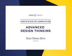 Advanced Design Thinking Certificate