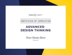 Advanced Design Thinking Certificate